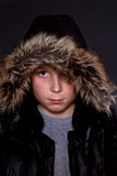 Portrait of a boy in a winter jacket Royalty Free Stock Photography