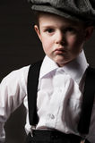 Portrait of a boys in an image of the gangsters Stock Photo