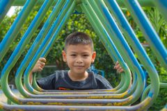 Portrait Boys in the playground. royalty free stock photos