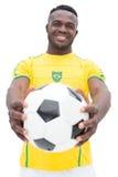 Portrait of Brazilian football player Stock Photography