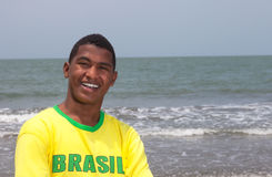 Portrait of a brazilian guy at beach Royalty Free Stock Photography