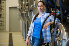 Portrait of brewer at bewery Royalty Free Stock Photography