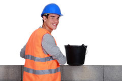 Portrait of a bricklayer Royalty Free Stock Photos