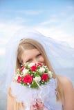 Portrait of the bride stock photos