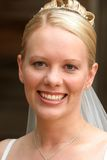 Portrait of a Bride. On her wedding day stock images