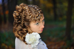 Portrait of a bride. With a stylish hairdo Royalty Free Stock Photography