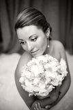 Portrait of a Bride. In Black and White Royalty Free Stock Photo