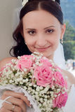 Portrait of the bride close up Royalty Free Stock Photo