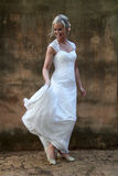 Portrait of a bride dancing Royalty Free Stock Images
