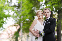 Portrait of bride and groom Stock Images
