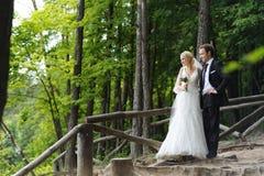 Portrait of bride and groom Stock Photo