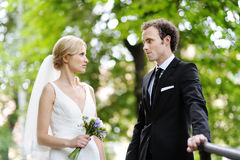 Portrait of bride and groom Royalty Free Stock Photos