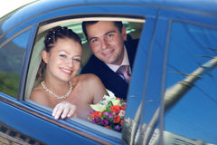 Portrait of bride and groom Royalty Free Stock Photography