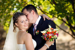 Portrait of the bride and groom Royalty Free Stock Photo