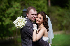 Portrait bride and groom Royalty Free Stock Photo