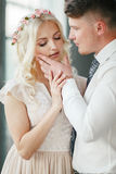 Portrait of the bride and groom Stock Image