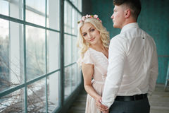 Portrait of the bride and groom Stock Photography