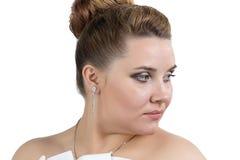 Portrait of bride lookin away Stock Photography
