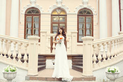 Portrait bride in a old mansion Royalty Free Stock Photography