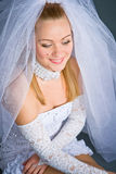 Portrait of bride smiling Royalty Free Stock Photography