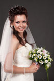 Portrait of the bride in a studio Royalty Free Stock Photos