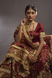 Portrait of bride. Bride in traditional costume stock photos