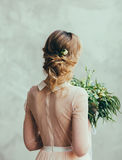 Portrait of the bride in a wedding dress Royalty Free Stock Photos