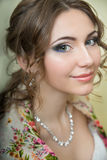 Portrait of the bride. wedding makeup Royalty Free Stock Image