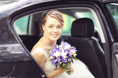 Portrait bride at a wedding in a white dress Royalty Free Stock Photography