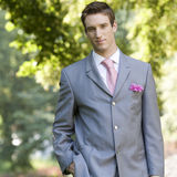 Portrait of a bridegroom stock photography