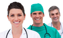 Portrait of a bright medical team Stock Images