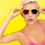 Bright summer girl Royalty Free Stock Image