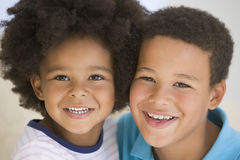 Portrait Of Brother And Sister Royalty Free Stock Photos