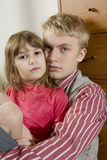 Portrait of brother with young sister Stock Photography