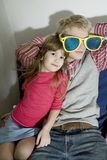 Portrait of brother with young sister Royalty Free Stock Images