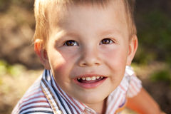 Portrait of a brown-eyed baby Stock Images