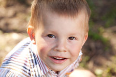 Portrait of  brown-eyed baby Stock Photography