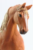 Portrait of Brown Horse toy Royalty Free Stock Photography