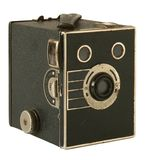 Portrait Brownie. Old photographic camera on white Royalty Free Stock Photography