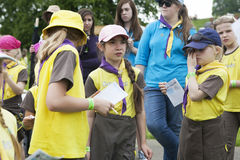 A portrait of a Brownie girl Stock Image