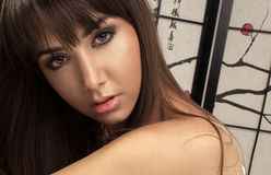 Portrait of brunet beauty Royalty Free Stock Photos