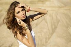 Portrait brunette Stock Images
