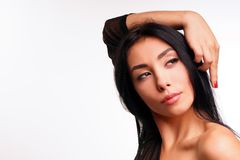 Portrait of a brunette Stock Photography