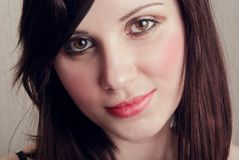 Portrait brunette royalty free stock images