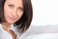 Portrait of a brunette. Portrait of an middle-aged woman Stock Photo
