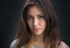 Portrait of a brunette. Stock Photography