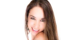 Portrait of a brunette beautiful hispanic girl Stock Photo