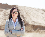 Portrait of the brunette business woman Royalty Free Stock Images