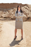 Portrait of the brunette business woman Royalty Free Stock Photography