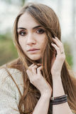Portrait of  brunette girl with beautiful eyes Royalty Free Stock Photos
